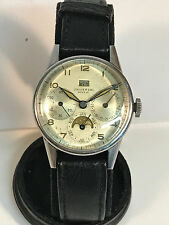 1940s Universal Geneve Triple Calendar Moon PhaseVintage Watch - Nice