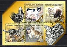 Chats Niger (41) série complète de 4 timbres oblitérés