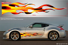 ** CAR UTE TRUCK VAN VEHICLE DECAL STICKER PREMIUM QUALITY - FLAMES 007v1 **