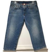 Women's Lucky Brand Sugar Baby Crop Capri denim jeans Women's Size 10/30
