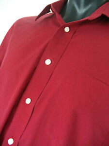Stafford Performance Dress Shirt  Red 16-32-33
