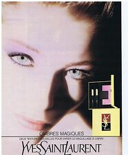 PUBLICITE ADVERTISING 094 1990 YVES SAINT LAURENT Ombre magique
