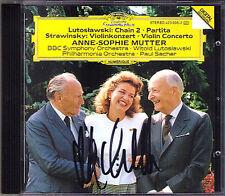 Anne-Sophie MUTTER Signed LUTOSLAWSKI Chain STRAVINSKY Violin Concerto SACHER CD