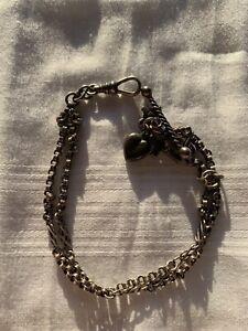 Fancy Silver Albertina Watch Chain