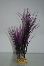 Aquarium Plant Echndrus Tenlus Grass Purple & Black & Weighted Base 28 cms High