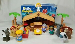 Fisher Price Little People Deluxe Christmas Story 12 Figure Nativity Set w/ Box