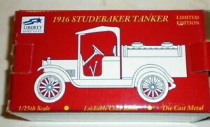 NEW LIBERTY CLASSICS SPECCAST SHELL 1916 STUDEBAKER TANKER DIECAST BANK 1/25