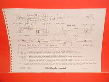 1968 CHRYSLER IMPERIAL CONVERTIBLE CROWN LEBARON HARDTOP FRAME DIMENSION CHART