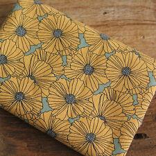 "Cotton Fabric Poppy Flower by the Yard 44"" Cozy Poppy Flower"