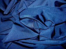 Dance Costume Lycra Fabric Navy Blue Shiny Nylon 50cm x 150cm