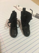 1/6 Scale Leather Black Boots (The Crow)