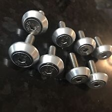 ANTI-THEFT LICENSE PLATE SECURIT Bolts -STAINLESS - CNC AUTO JEWELRY M6 JDM
