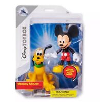 Disney Mickey Mouse and Pluto Action Figure Set Toybox New with Box
