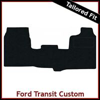 FORD TRANSIT CUSTOM 2013 onwards Tailored Carpet Car Floor Mats BLACK