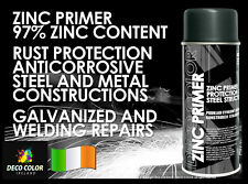 DECOCOLOR ZINC PRIMER SPRAY PAINT STEEL METAL WELDING GALVE RUST HEAT RESISTANT