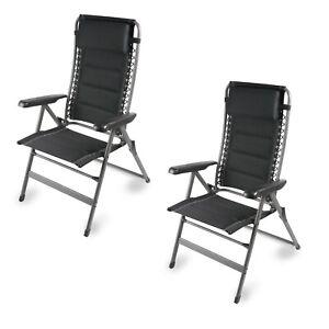 Kampa Dometic Lounge Firenze x2 Caravan / Camping Chair 7 Position Recline