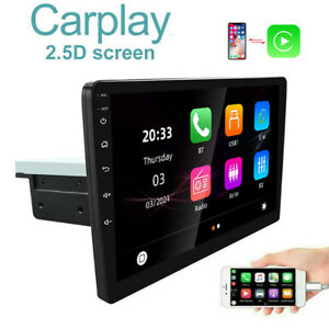 """10.1"""" Single 1Din Radio Apple/Andriod Car Play Car Stereo Touch Screen Bluetooth"""