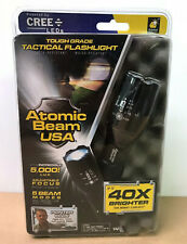 Atomic Beam Tactical Flashlight Cree LED's - Z13-0318 - Telebrands - New