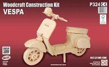 VESPA: Woodcraft Construcción De Muelle de madera Motociclismo 3D Modelo Kit P324 edad 7 Plus