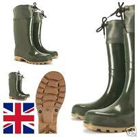 New Mens Waterproof Walking Hunting Fishing Wellies Rain Wellington Boots UK