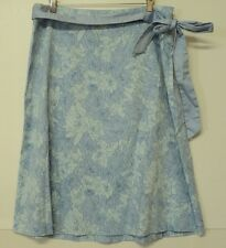 misses size 12 Apostrophe SKIRT light blue periwinkle cotton blend floral