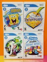Nintendo Wii Wii U Game Lot U Draw - Spongebob Pictionary Dood's Instant Artist
