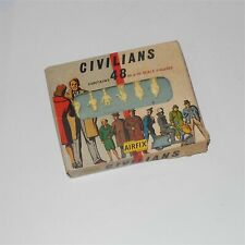 Airfix Pattern 56 Civilians 48 OO Figures Original Box with Flyer and Insert