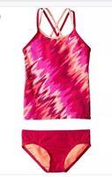 Girls Nike Splash Spider Back Tankini 2 Pc Swim Suit, Fuchsia NWT- Size 10