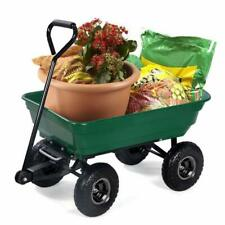 GreenWise® Heavy-Duty Poly Yard Garden Outdoor Dump Dumping Cart Wheel Barrow