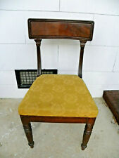Ca 1830-1835 William IV Mahogany Side Chair w/ Original Upholstery Coat of Arms