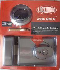 Lockwood 001 Double Cylinder Deadlatch 2 Keys LockAlert Deadbolt 1K1SPDP BNIB