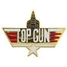 "- Original Artwork, Designed Pin - 1.125"" United States Navy Top Gun W/Jet Sml"