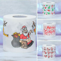 USA 4Pcs Christmas Santa Claus Bath Toilet Roll Paper Home Supplies Decor Tissue
