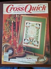 Cross Quick Oct/Nov 1989 Halloween Totes, Bunnies, Holiday Wreath & More