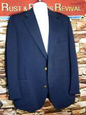 1970s Mens Sports Coat Blazer Alexandre Savile Row Vintage Harringbone Blue 42