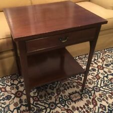 Craftique Mahogany Nightstand or Bedside Table