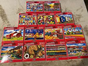 New Lot of 6 Puzzlebug Jigsaw Random Puzzles 500 Pieces - New & Sealed CrazArt