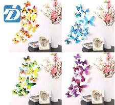3D Butterfly Wall Decals Removable Sticker Kids Art Nursery Decor Magnets 12Pcs