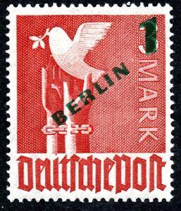 Berlin MiNr. 67 mit markantem echtem Plattenfehler auf Urmarke, bitte lesen, **