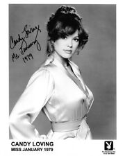CANDY LOVING SIGNED 8X10 AUTOGRAPHED PHOTO MISS JANUARY 1979 PLAYBOY PROMO RP