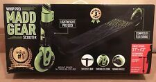 Madd Gear Whip-Pro Stunt Scooter, Black/Green, Ages 6+ ~New In Box