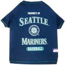 Seattle Mariners Officially Licensed MLB Dog Pet Tee Shirt, Blue Sizes XS-XL