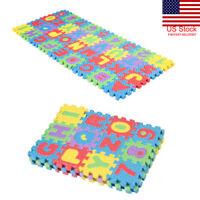 36pcs Soft Eva Foam Baby Play Floor Mat Alphabet Numbers Kid DIY Puzzle Jigsaw