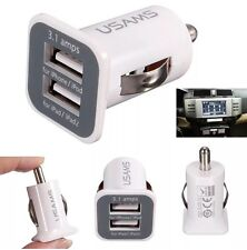 Universal Doble de 2 puertos USB 3.1A 12V Cargador de mechero de coche zócalo adaptable