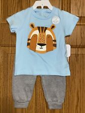 Nwt Rene Rofe Brand Boys 2pc Tiger Outfit Sz 6/9mo