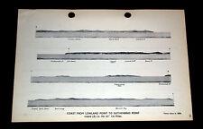 Vendita-viste COSTIERA 1896 intorno a lucertola e LANDS END, Cornovaglia WW2 della Marina 1943
