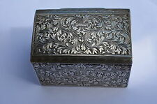 ANTIQUE STERLING SILVER SNUFF BOX, ANTIQUE SOLID SILVER, MINT CONDITION, c.1840