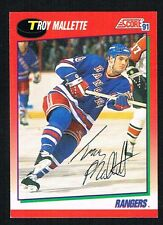 Troy Mallette #178 signed autograph 1991-92 Score Hockey Canadian Release Card