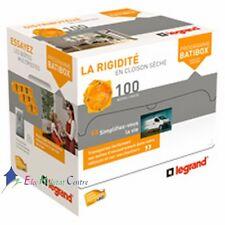 100 boites encastrement placo 80051 1 poste prof.50 Legrand 80009