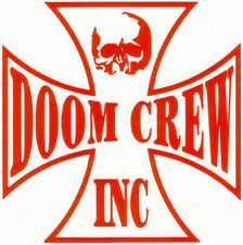 0486df09e4ce6 BLACK LABEL SOCIETY DOOM CREW INC. RED PEEL   RUB ON LARGE 13 INCH DECAL